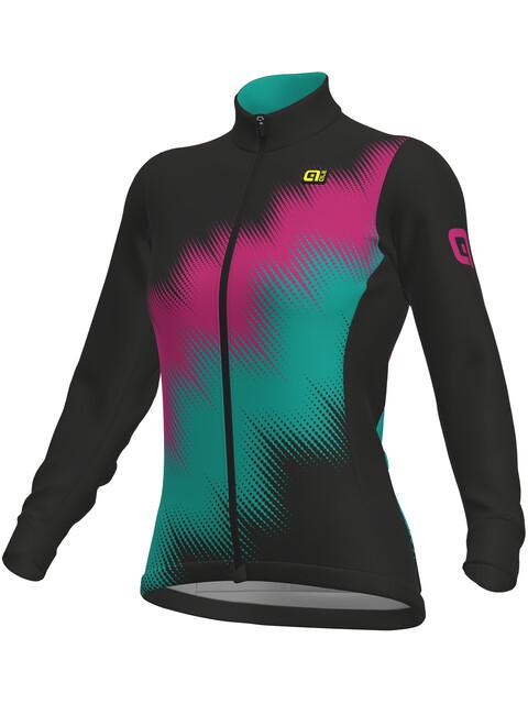 Alé Cycling Solid Pulse Longsleeve Jersey Women black-magenta-green
